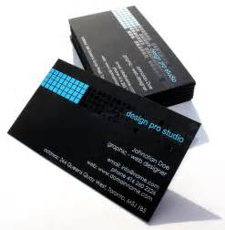 black business card concept permanent print