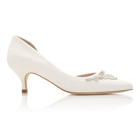 Wedding Shoes Kitten Heel by Buy Amelia Kitten Ivory Low Heel Wedding Shoe Emmy