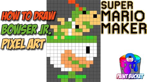 8 bit pixel mario bros for powerpoint how to draw bowser jr in clown car super mario maker