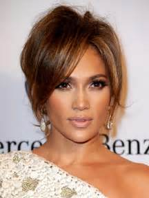 soft updo medium hair with bangs jennifer lopez soft updo hairstyle