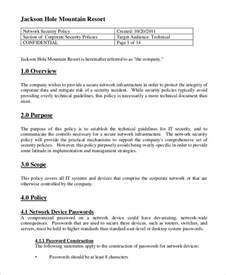 network policy template security policy sle 8 exles in word pdf