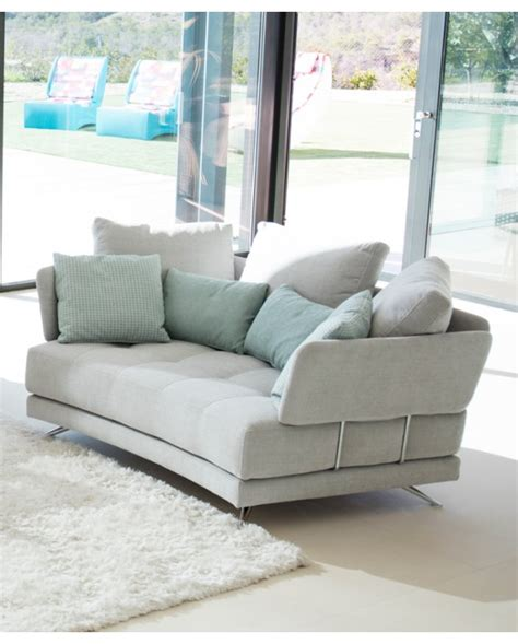 curved two seater sofa fama pacific