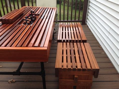 outdoor bench with cooler 15 best images about diy cedar outdoor table with built in wine beer cooler and pipe
