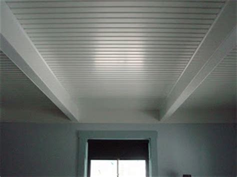 Fake Beadboard - faux ceiling beams and beadboard diy pinterest