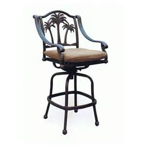 heritage outdoor living palm tree cast aluminum barstool