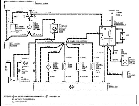 1989 mercedes benz 190e wiring diagram wiring diagram service manual pdf 1992 mercedes benz 190e 2 6 litre no power to cold start injector actually only 1 5 volts