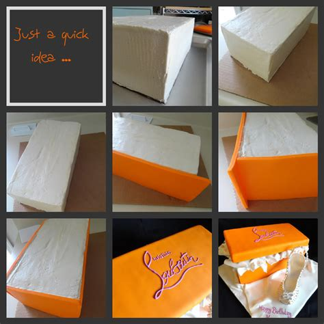 How To Make A Cake Box Out Of Paper - pink cake orange shoe box cake and stiletto heel shoe