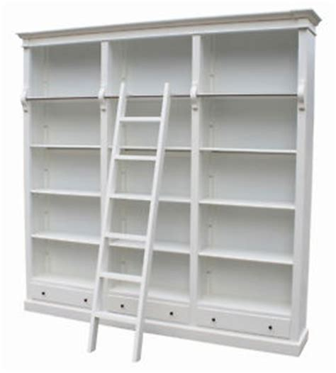 chateau white large library bookcase san34w