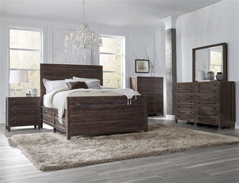 storehouse bedroom furniture 4 piece townsend solid wood panel storage bedroom set by