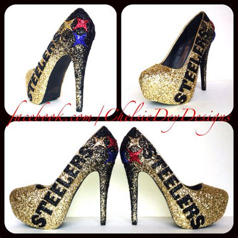 steelers high heels unavailable listing on etsy
