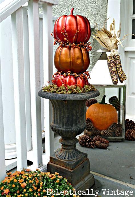 pumpkin topiary ideas fall porch diy pumpkin topiaries elko