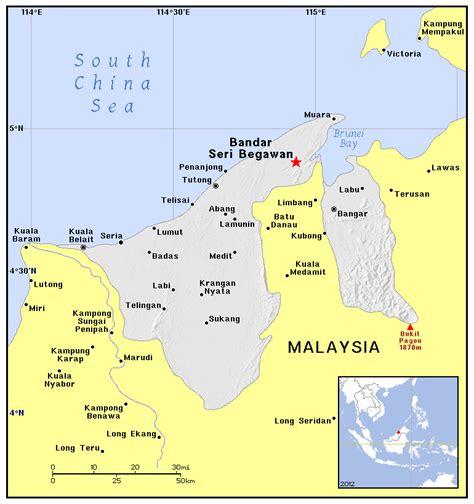 brunei map detailed political map of brunei brunei detailed political map vidiani maps of all
