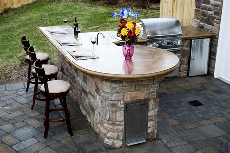 outdoor kitchen countertops ideas outdoor countertops landscaping
