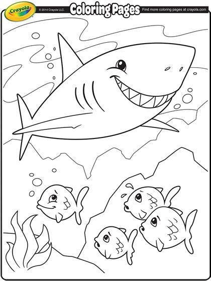 crayola beach coloring pages shark coloring page crayola com
