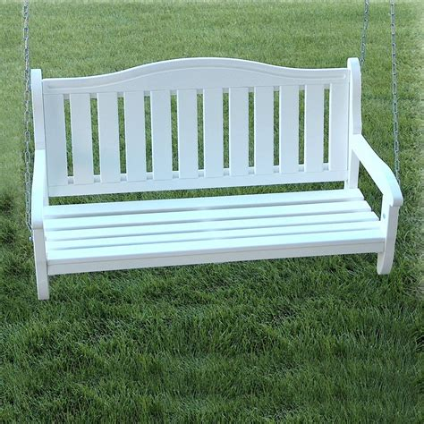 white porch swings shop prairie leisure design satin white porch swing at