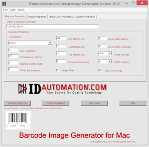 Software Barcode For Mac free barcode image generator for mac by idautomation inc v 2011 software 639090