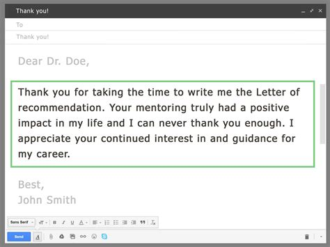 Thank You Letter For Via Email How To Ask Your Professor For A Letter Of Recommendation Via Email With Sle Emails