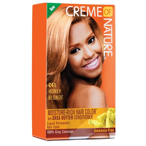creme of nature hair colors creme of nature moisture rich hair color honey