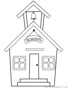 coloring pages school building education gt school free