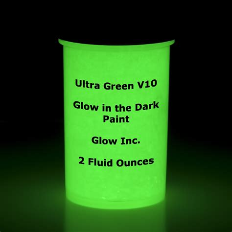 glow in the paint green ultra green v10 glow in the paint 1 2oz 1 2 ounce ebay