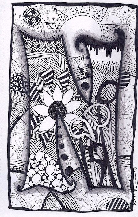 G Drawing Design by 78 Best Images About Zentangle Letters On