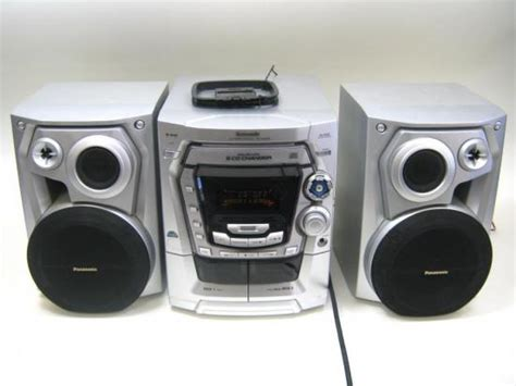 Shelf Stereo With Cd Changer by Panasonic Sa Ak300 5 Cd Disc Changer Shelf Stereo System