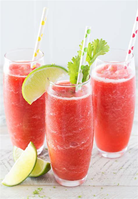 9 Ultimate Summer Smoothies Slushes And Shakes by Boozy Strawberry Limeade Slushies The Chunky Chef