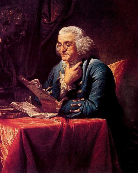 portrait of benjamin franklin painting david martin painting reproduction
