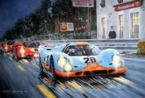 porsche 917 art exclusive art print moving picture steve mcqueen