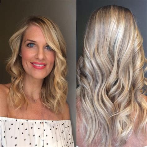 Layers With Soft Waves Hairstyles by S Bright Pink Layered Cut With Waterfall Waves And
