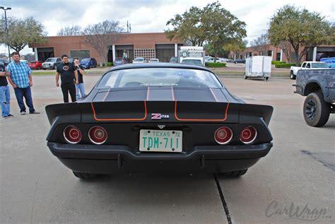 72 z28 camaro satin black 72 camaro z28 carbon fiber stripes car