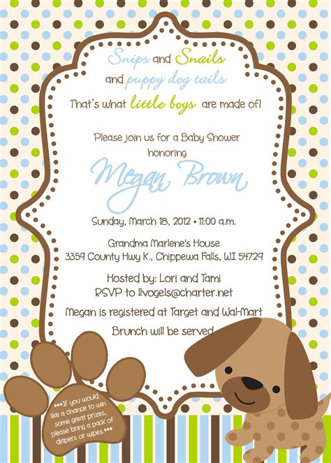 Puppy Baby Shower Theme by Puppy Theme Baby Shower Invitations Baby Shower
