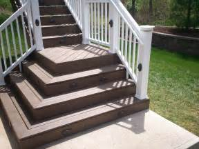 Outside Stairs With Landing by Deck Stairs With Landings St Louis Decks Screened