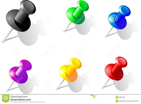 B Q Drawing Pins by Drawing Pin Stock Vector Image Of Decorating Clear Page