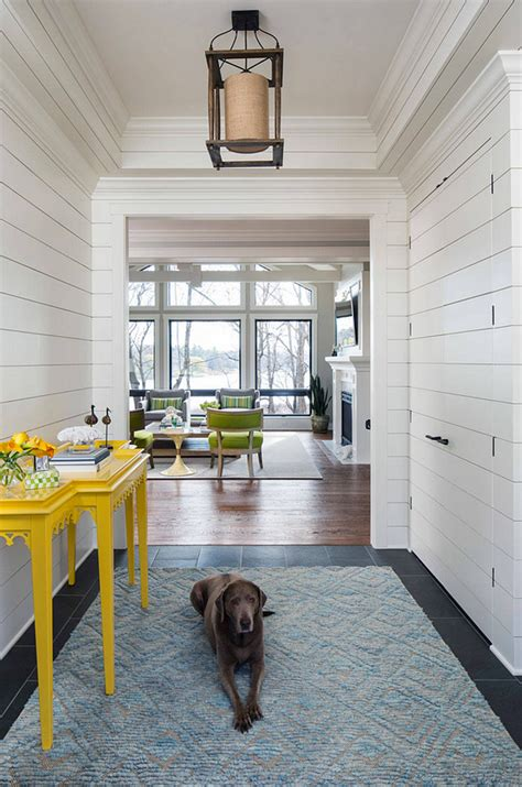 shiplap foyer lake house with coastal interiors home bunch interior