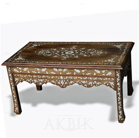 mother of pearl desk mediterranean levantine syrian furniture inlaid with
