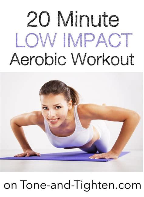 20 minute low impact workout tone and tighten