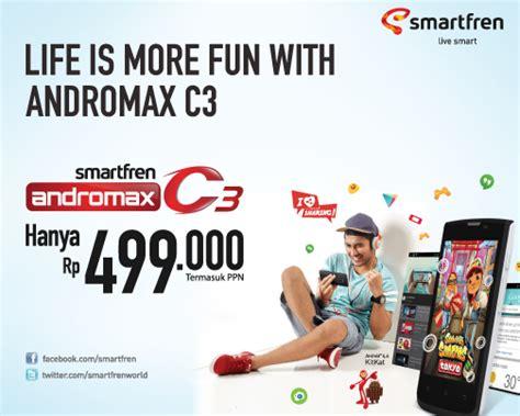 Hp Smartfren Andromax C3 spesifikasi dan harga smartfren andromax c3 hp android