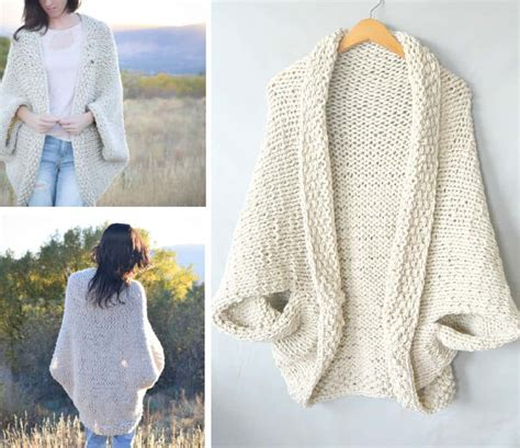 free knitted shrug and bolero patterns cocoon shrug knitting pattern free tutorial easy
