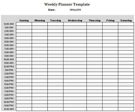 weekly planner template writing ideas resources prompts