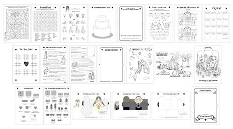 printable toddler activity book printable wedding activity book a5 children kids pdf