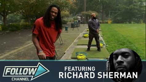 richard sherman house richard sherman home on the driving range youtube