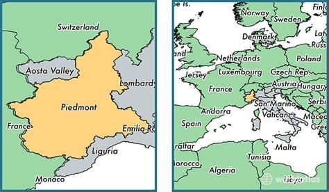 map of piedmont piedmont region italy map of piedmont it where is