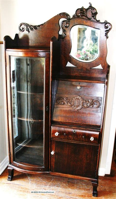 antique drop front secretary desk with bookcase gorgeous american antique drop front oak secretary desk