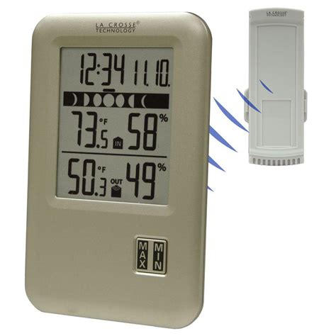 la crosse technology wireless weather station with moon