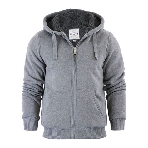 Fleece Lined mens fleece lined zip up hoodie fashion ql