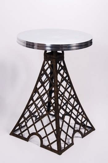 parisian park eiffel tower table with aluminium top