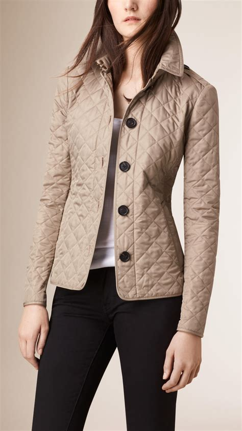 burberry quilted jacket in lyst