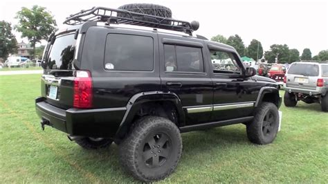 jeep commander lifted 2 door black jeep wrangler