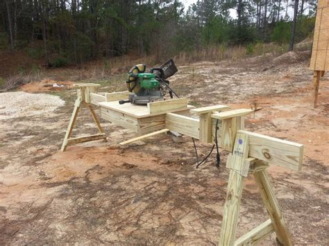 build miter saw bench portable mitre saw stand i built based on these plans